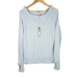 Lauren Conrad Make Believe Metallic Blue Sweater M